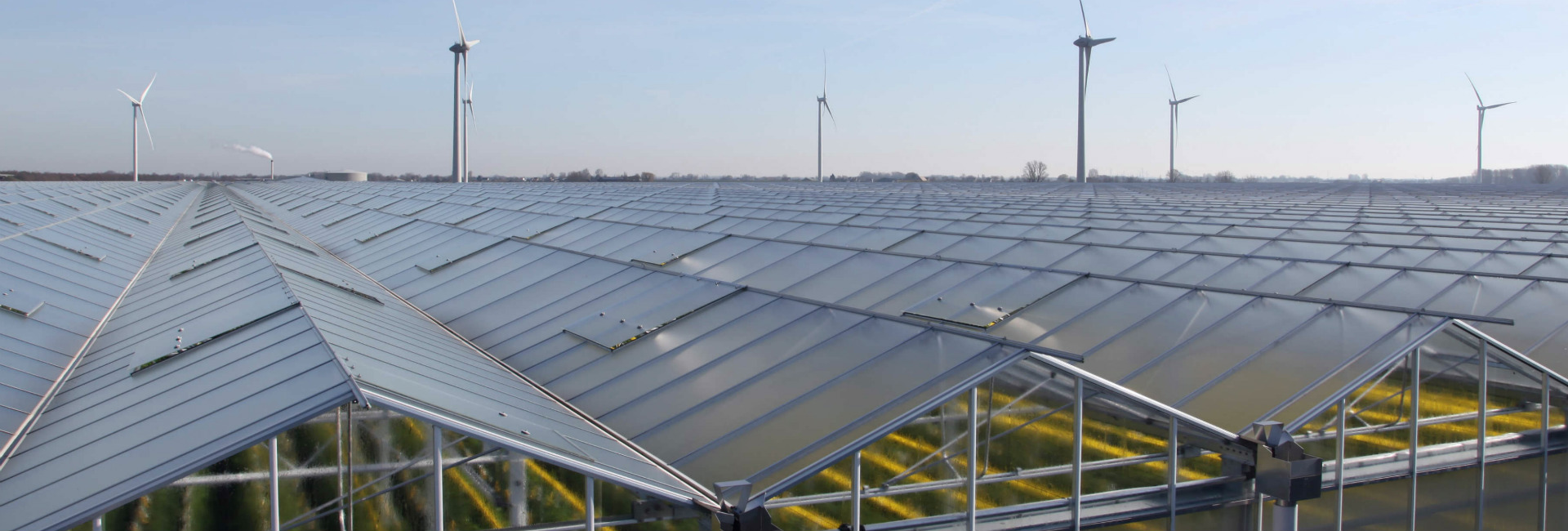 Aluminium greenhouse roof systems