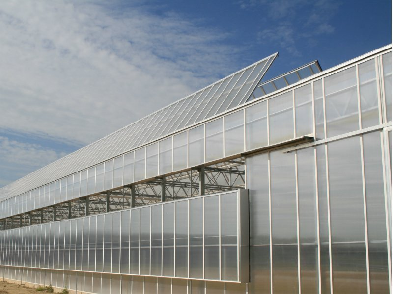 Greenhouse gable system with gable ventilation | Alcomij