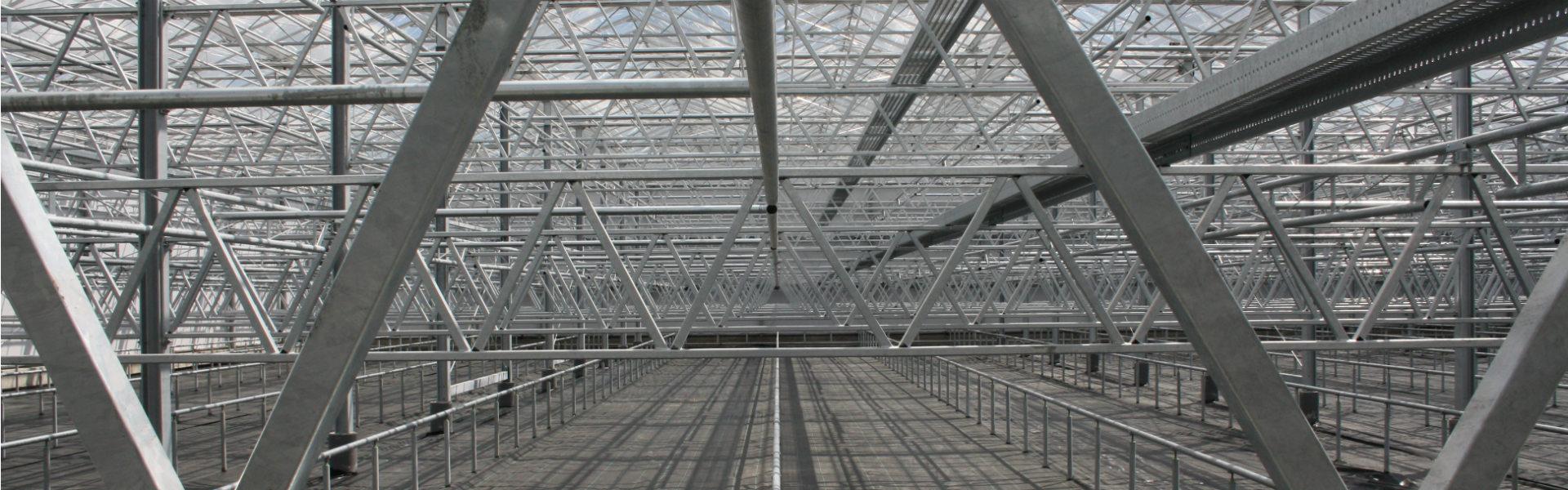 Steel greenhouse strucuture