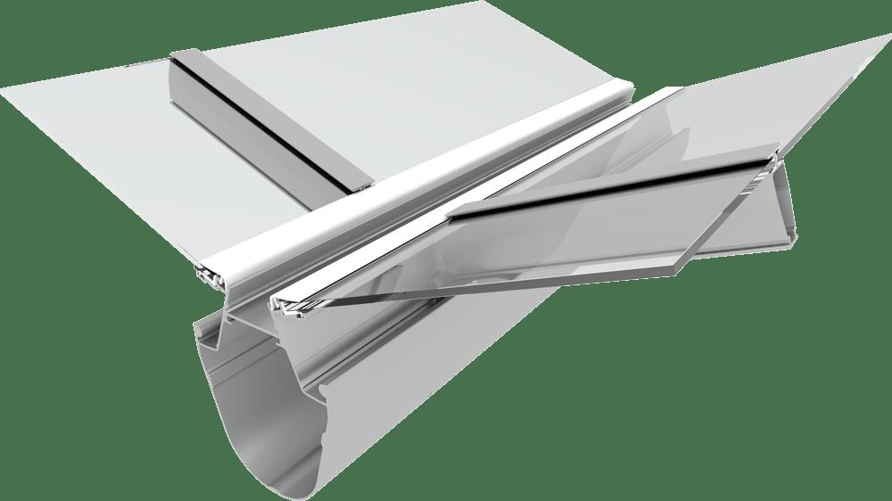 Optinova gutter | Greenhouse roof system